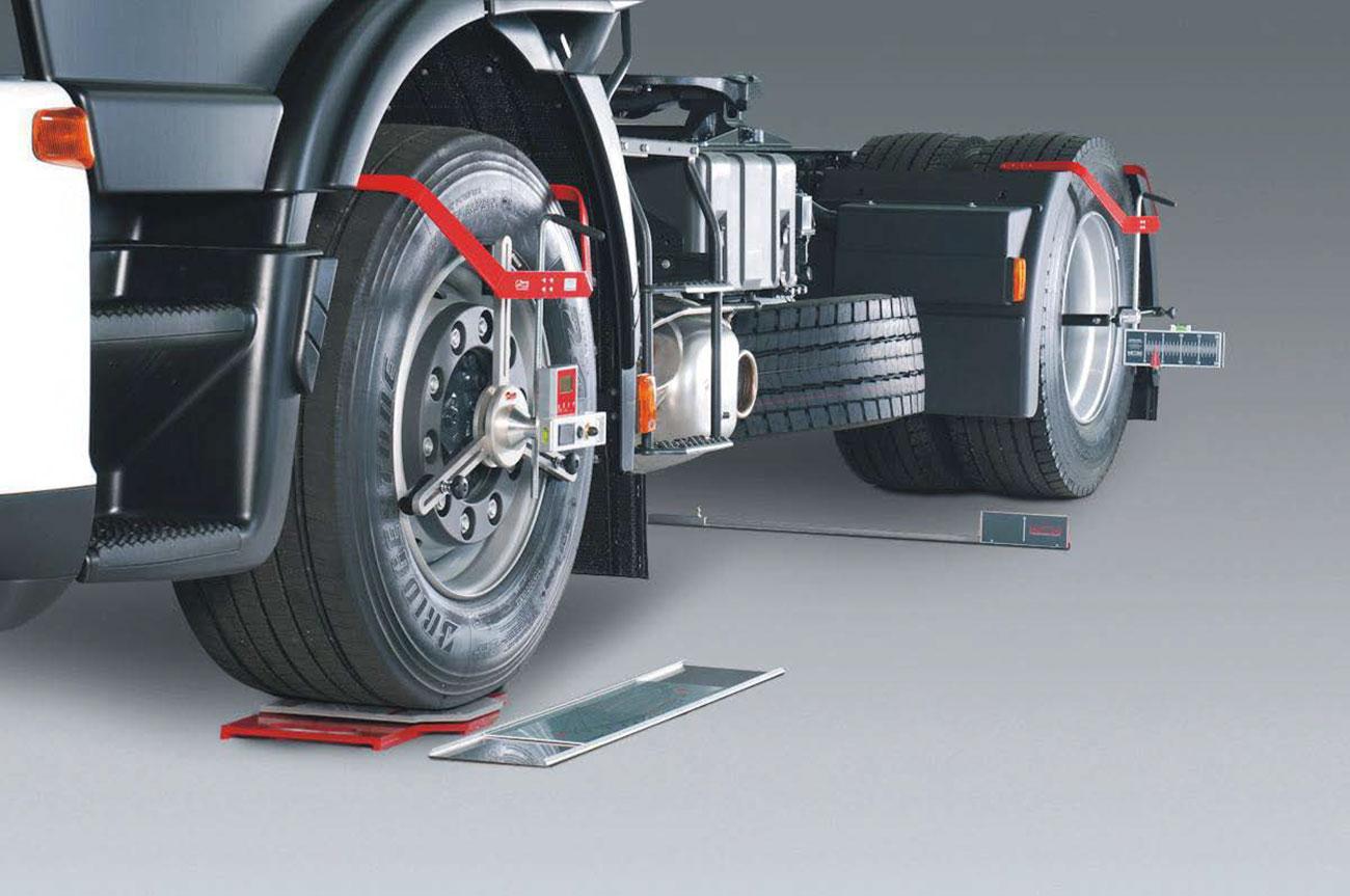 Alineadores de ruedas para vehículos comerciales